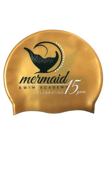 msa gold anniversary swimming cap